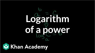Logarithm of a Power