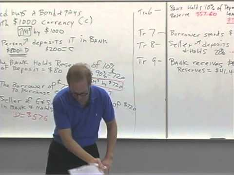 Money and Banking: Lecture 37 - The Money Multiplier 1