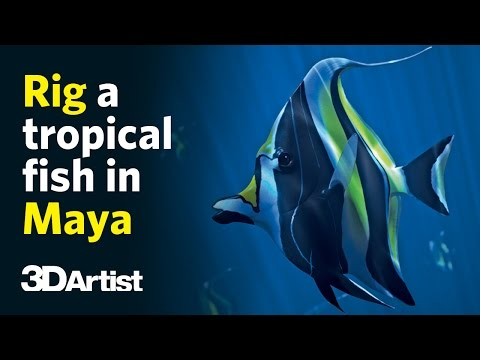 3d rigging and animating a fish in maya tutorial by 3d artist