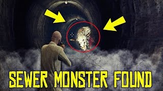 THE SECRET SEWER MONSTER FOUND! SCARY (GTA 5 Honest Myth Hunting)