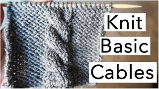 HOW TO KNIT BASIC CABLES| Easy For Beginners!