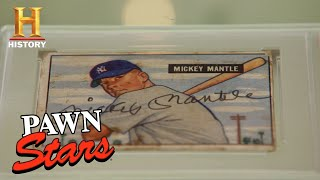 Pawn Stars: Mickey Mantles Rookie Card (Season 16) | History