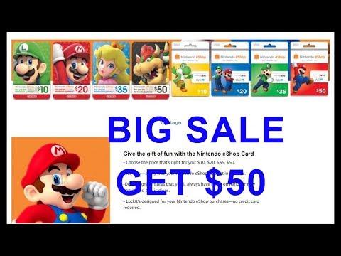 $50 Nintendo eShop Gift Card [Digital Code] by Nintendo | Review Full HD
