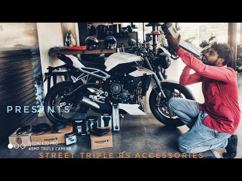 Street triple RS/Accessories / ARROW exhaust / performance parts unboxing #presents