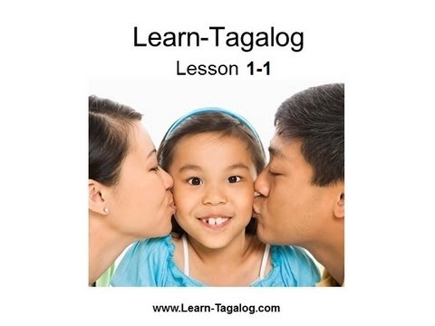 Learn Tagalog Lesson 1-1 - YouTube