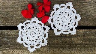 Crochet Lace Coaster / Small Doily Tutorial