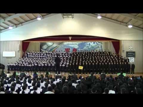 大分市立大東中学校「文化発表会」 3年生学年合唱