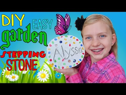 DIY Garden Gems Stepping Stone