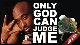 """Design Quotes """"Only God Can Judge ME"""" by Tupac Shakur"""