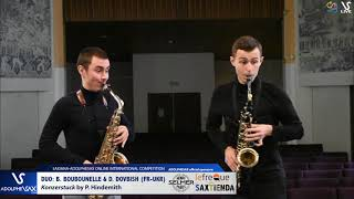 DUO B. BOUBOUNELLE & D. DOVBISH play Konzertstuck by P. Hindemith #adolphesax