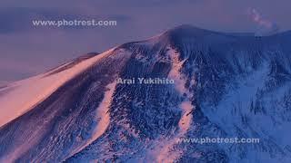 浅間山のモルゲンロート