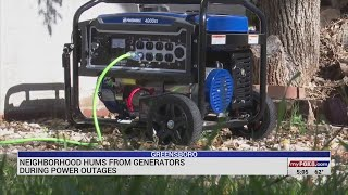 Neighborhood hums from generators during power outages