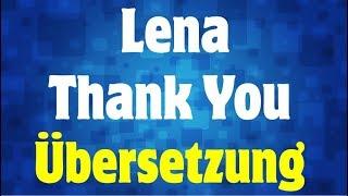 Lena   Thank You Deutsche Übersetzung