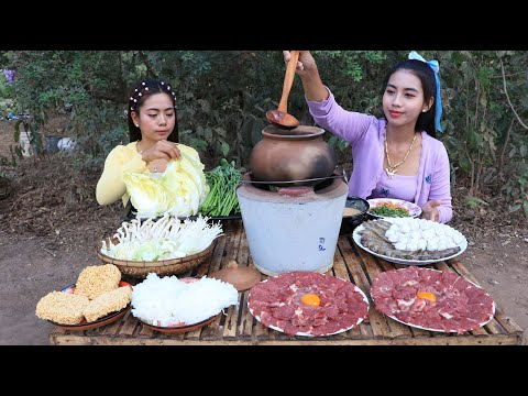 BBQ Beef with soup and vegetable recipe – Cooking skill