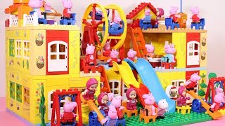 Peppa Pig Lego House Building With Water Slide Toys #6