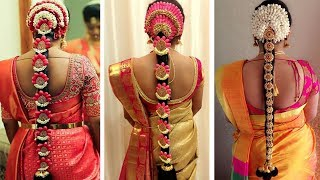 Indian Bridal Hairstyles | Wedding Hairstyles Step By Step | Bridal Bun And Bridal Plait Hairstyles