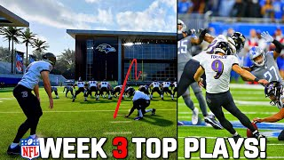 RECREATING THE TOP 10 PLAYS FROM NFL WEEK 3! Madden 22 Challenge