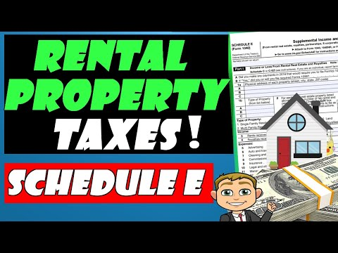 How to Fill out Schedule E  Income Tax Form For Your Rental Property! 🧾 🏠 - Very Detailed