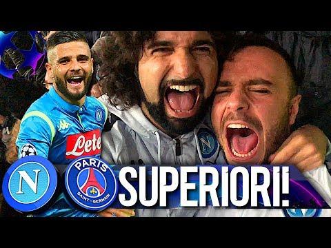 SUPERIORI!!! NAPOLI 1-1 PSG | LIVE REACTION SAN PAOLO NAPOLETANI 4K видео