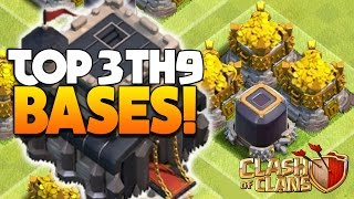 "Clash Of Clans - TOP 3 TH9 FARMING BASE 2016! ""NEW UPDATE!"" - CoC BEST TOWN HALL 9 DEFENSE 2016!"