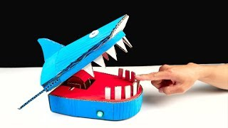 Making Shark Dentist Toy from Cardboard for All Family