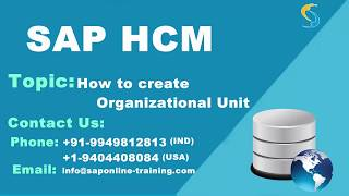 How to create Organizational Unit | SAP HR/HCM Organizational Unit | SAP HCM online training