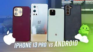 Apple iPhone 13 Pro vs Samsung Galaxy S21+ 5G vs OnePlus 9 Pro vs Google Pixel 5