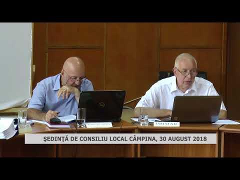 ŞEDINŢĂ CONSILIU LOCAL CÂMPINA 30 08 2018