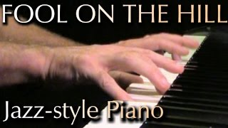 THE BEATLES: The Fool On The Hill (jazz-style piano) [Fender Rhodes sound]