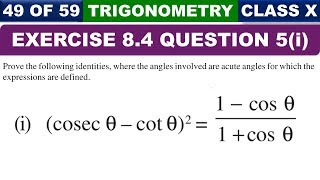 NCERT Exercise 8.4 Question 5 Part 1 | Trigonometry | Class 10 Maths