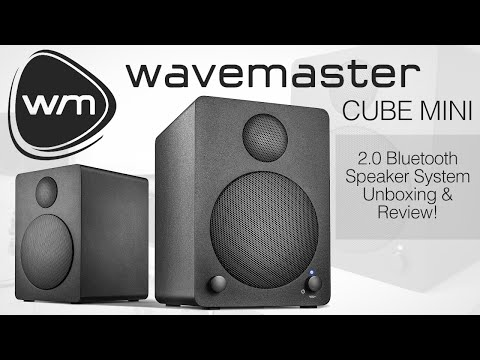 wavemaster CUBE MINI 2.0 Bluetooth Speaker System Unboxing & Review!