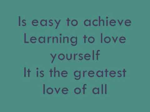 Whitney Houston - Greatest Love Of All (Lyrics)