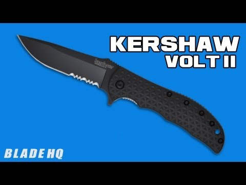 "Kershaw Volt II Assisted Opening Knife Black (3.25"" Bead Blast Serr) 3650ST"