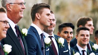 Grooms Reaction😭 To Seeing Bride For The First Time   Santa Fe River Ranch Wedding   Rachel & Tyler