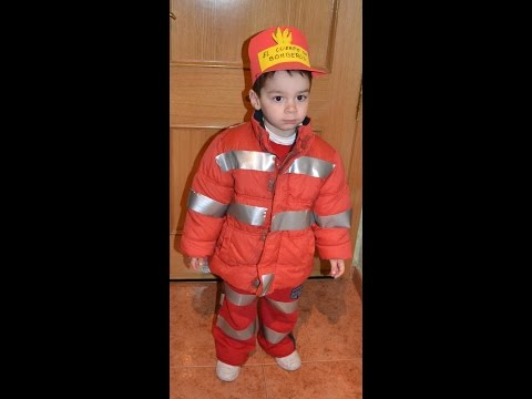 disfraz infantil rapido de bombero