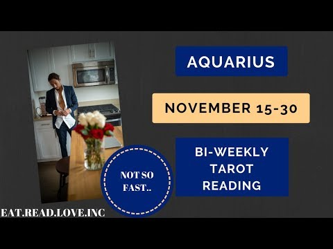"""AQUARIUS - """"JUST WHEN YOU THOUGHT IT WAS OVER"""" NOVEMBER 15-30 BI-WEEKLY TAROT READING"""