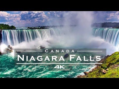 Niagara Falls, Canada 🇨🇦 / USA 🇺🇸 - by drone [4K]
