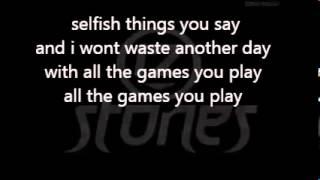 12 stones - Games you play lyrics (christian rock)