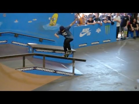 Angelo Caro does the best Nollie Heel Lip in Tampa AM history MID RUN