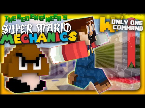 Super Mario mechanics with only one command block Minecraft Project
