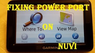 Garmin GPS Power Port Repair ~ Soldering the Port ~ It Fought Back!