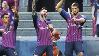 PES 2019 | FC BARCELONA vs ARGENTINA | LIONEL MESSI hat trick | Gameplay PC