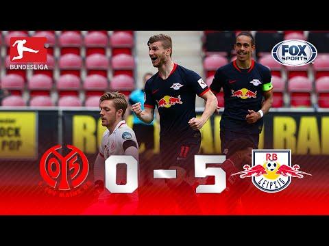 GOLEADA E HAT-TRICK DE TIMO WERNER! Melhores momentos de Mainz 0 x 5 Leipzig pela Bundesliga