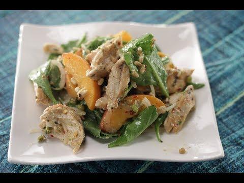 Chicken Peach Salad | Sanjeev Kapoor Khazana