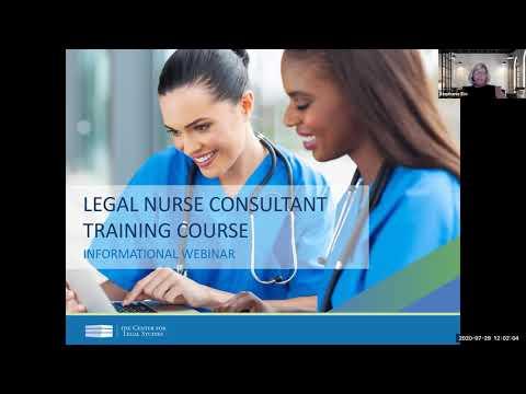 Legal Nurse Consultant Training Course Webinar (July 2020) | The ...