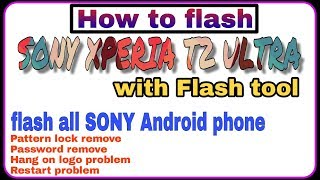 Sony Xperia Flash Tool Not Working