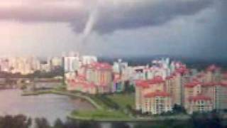 preview picture of video 'water spout formed'