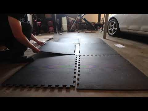 BalanceFrom Puzzle Exercise Mat with EVA Foam Interlocking Tiles (REVIEW + UNBOXING)