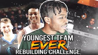 REBUILDING THE YOUNGEST TEAM IN NBA HISTORY IN NBA 2K20