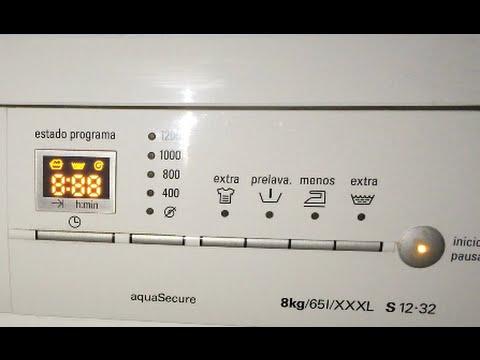 Reset lavadora Siemens.